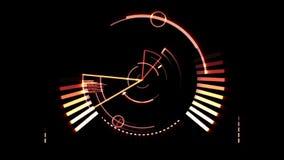Πορτοκαλιά οθόνη ραντάρ διανυσματική απεικόνιση