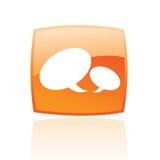 πορτοκαλιά ομιλία φυσα&lam Στοκ Εικόνα