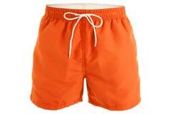 Πορτοκαλιά σορτς ατόμων για την κολύμβηση στοκ φωτογραφίες