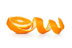 Πορτοκαλιά σπείρα φλούδας Στοκ εικόνα με δικαίωμα ελεύθερης χρήσης