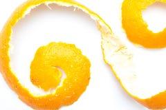 Πορτοκαλιά συστροφή της φλούδας εσπεριδοειδών Στοκ εικόνα με δικαίωμα ελεύθερης χρήσης