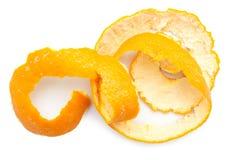 Πορτοκαλιά συστροφή της φλούδας εσπεριδοειδών Στοκ Εικόνες