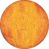 Πορτοκαλιά σφαίρα στο μωσαϊκό απεικόνιση αποθεμάτων