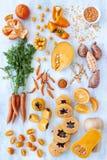 Πορτοκαλιά τονισμένα χρώμα φρέσκα προϊόντα συλλογής Στοκ φωτογραφίες με δικαίωμα ελεύθερης χρήσης