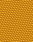 Πορτοκαλιά τρισδιάστατη απεικόνιση υποβάθρου κυψελωτού πλέγματος Στοκ Εικόνες