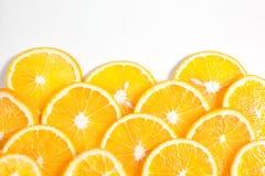 Πορτοκαλιά φρούτα στο τμήμα στο άσπρο νερό Στοκ φωτογραφία με δικαίωμα ελεύθερης χρήσης
