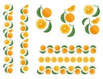 Πορτοκαλιά χρωματισμένη φρούτα διακόσμηση Στοκ Εικόνα