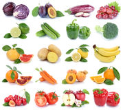 Πορτοκαλιά χρώματα FR μήλων φρούτων και λαχανικών απομονωμένα συλλογή Στοκ Φωτογραφίες