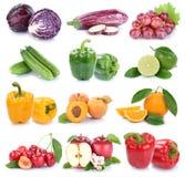 Πορτοκαλιά χρώματα FR μήλων φρούτων και λαχανικών απομονωμένα συλλογή Στοκ φωτογραφία με δικαίωμα ελεύθερης χρήσης