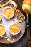 Πορτοκαλιά zesty σπιτικά tarts στοκ φωτογραφίες με δικαίωμα ελεύθερης χρήσης