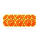 Πορτοκαλιές φέτες σε μια σειρά Στοκ φωτογραφία με δικαίωμα ελεύθερης χρήσης