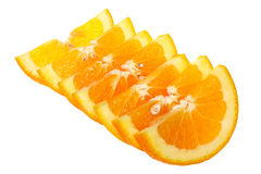 Πορτοκαλιές φέτες στην άσπρη ανασκόπηση Στοκ Εικόνες