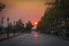 πορτοκαλιοί ουρανοί Στοκ φωτογραφία με δικαίωμα ελεύθερης χρήσης