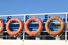Πορτοκαλιοί σημαντήρες ζωής Στοκ εικόνα με δικαίωμα ελεύθερης χρήσης