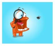 Πορτοκαλιοί χαρακτήρας και μύγα Στοκ φωτογραφία με δικαίωμα ελεύθερης χρήσης
