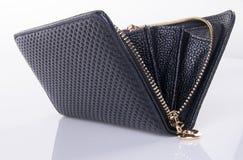 πορτοφόλι ανοικτό πορτοφόλι σε ένα υπόβαθρο Στοκ Εικόνες