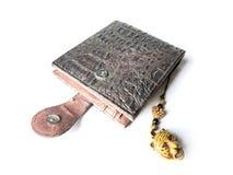 πορτοφόλι Πορτοφόλι ατόμων ` s πορτοφόλι Καφετί πορτοφόλι φιαγμένο από δέρμα Στοκ Εικόνες
