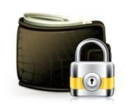 πορτοφόλι κλειδωμάτων Στοκ εικόνα με δικαίωμα ελεύθερης χρήσης