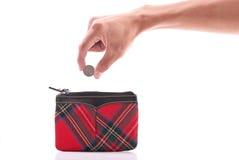 πορτοφόλι νομισμάτων Στοκ φωτογραφία με δικαίωμα ελεύθερης χρήσης
