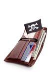 πορτοφόλι πειρατών σημαιών Στοκ Φωτογραφία