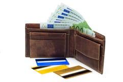 πορτοφόλι περιεκτικοτή&tau Στοκ φωτογραφία με δικαίωμα ελεύθερης χρήσης