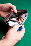 πορτοφόλι πόκερ Στοκ φωτογραφία με δικαίωμα ελεύθερης χρήσης
