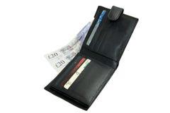 πορτοφόλι χρημάτων καρτών Στοκ φωτογραφία με δικαίωμα ελεύθερης χρήσης