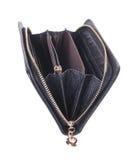 Πορτοφόλι. ανοικτό πορτοφόλι σε ένα υπόβαθρο Στοκ εικόνα με δικαίωμα ελεύθερης χρήσης