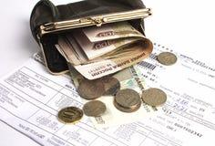Πορτοφόλι με τα χρήματα Στοκ εικόνα με δικαίωμα ελεύθερης χρήσης
