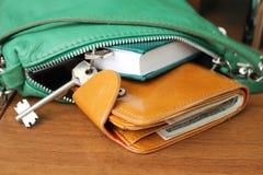 Πορτοφόλι με τα χρήματα Στοκ εικόνες με δικαίωμα ελεύθερης χρήσης