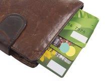 Πορτοφόλι με τις πιστωτικές κάρτες Στοκ φωτογραφίες με δικαίωμα ελεύθερης χρήσης