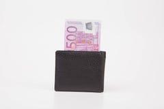 Πορτοφόλι με το ευρο- τραπεζογραμμάτιο Στοκ εικόνες με δικαίωμα ελεύθερης χρήσης