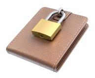 Πορτοφόλι με το λουκέτο ελεύθερη απεικόνιση δικαιώματος