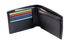 Πορτοφόλι που απομονώνεται στο άσπρο υπόβαθρο Στοκ φωτογραφία με δικαίωμα ελεύθερης χρήσης