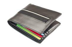 Πορτοφόλι που απομονώνεται στο άσπρο υπόβαθρο Στοκ Εικόνα