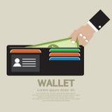 Πορτοφόλι στα χέρια ελεύθερη απεικόνιση δικαιώματος