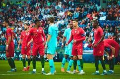 ΠΟΡΤΟ, PORTUGLAL - 9 Ιουνίου 2019: Ποδοσφαιριστής κατά τη διάρκεια του αγώνα τελικών ένωσης εθνών UEFA μεταξύ της εθνικής ομάδας  στοκ φωτογραφία με δικαίωμα ελεύθερης χρήσης