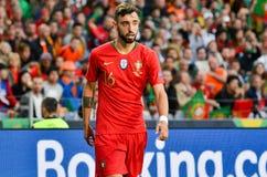 ΠΟΡΤΟ, PORTUGLAL - 9 Ιουνίου 2019: Ποδοσφαιριστής κατά τη διάρκεια του αγώνα τελικών ένωσης εθνών UEFA μεταξύ της εθνικής ομάδας  στοκ εικόνες