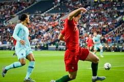 ΠΟΡΤΟ, PORTUGLAL - 9 Ιουνίου 2019: Ποδοσφαιριστής κατά τη διάρκεια του αγώνα τελικών ένωσης εθνών UEFA μεταξύ της εθνικής ομάδας  στοκ εικόνες με δικαίωμα ελεύθερης χρήσης