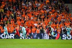 ΠΟΡΤΟ, PORTUGLAL - 9 Ιουνίου 2019: Ποδοσφαιριστής κατά τη διάρκεια του αγώνα τελικών ένωσης εθνών UEFA μεταξύ της εθνικής ομάδας  στοκ φωτογραφία