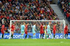 ΠΟΡΤΟ, PORTUGLAL - 9 Ιουνίου 2019: Ποδοσφαιριστής κατά τη διάρκεια του αγώνα τελικών ένωσης εθνών UEFA μεταξύ της εθνικής ομάδας  στοκ φωτογραφίες με δικαίωμα ελεύθερης χρήσης