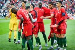 ΠΟΡΤΟ, PORTUGLAL - 9 Ιουνίου 2019: Ποδοσφαιριστής της Πορτογαλίας κατά τη διάρκεια του αγώνα τελικών ένωσης εθνών UEFA μεταξύ της στοκ εικόνα με δικαίωμα ελεύθερης χρήσης