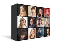 Πορτρέτα ανθρώπων διανυσματική απεικόνιση