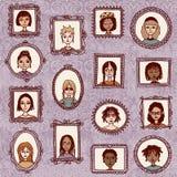 Πορτρέτα κοριτσιών Στοκ εικόνα με δικαίωμα ελεύθερης χρήσης