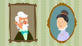 πορτρέτα παππούδων και γι&alpha Στοκ φωτογραφίες με δικαίωμα ελεύθερης χρήσης