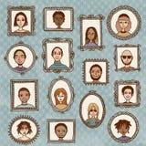 Πορτρέτα πλαισίων εικόνων Στοκ φωτογραφία με δικαίωμα ελεύθερης χρήσης