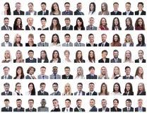 Πορτρέτα των επιτυχών υπαλλήλων που απομονώνονται σε ένα λευκό στοκ εικόνες