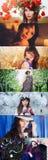 Πορτρέτα των κοριτσιών σε όλα τα χρώματα του ουράνιου τόξου Στοκ Εικόνες