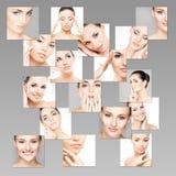 Πορτρέτα των νέων, υγιών και όμορφων γυναικών στοκ εικόνα με δικαίωμα ελεύθερης χρήσης