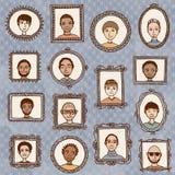 Πορτρέτα τύπων Στοκ Φωτογραφίες